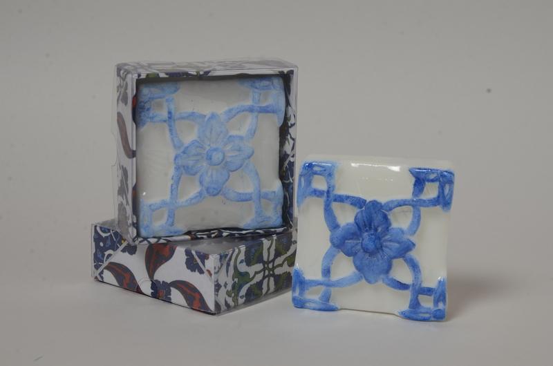 Azulejo portugues flor azul