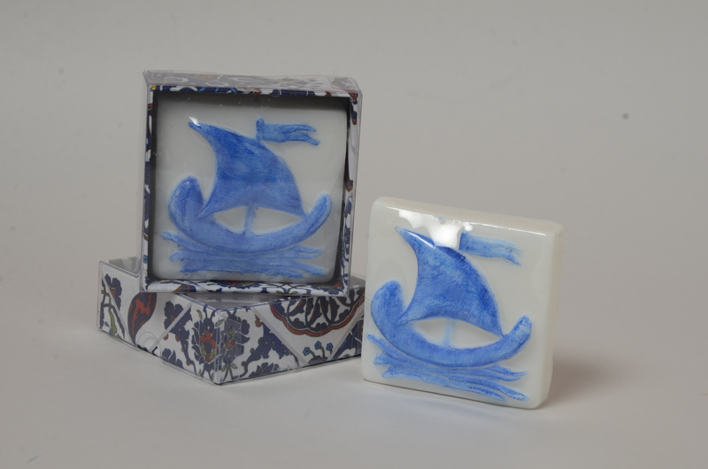 Azulejo portugues caravela azul