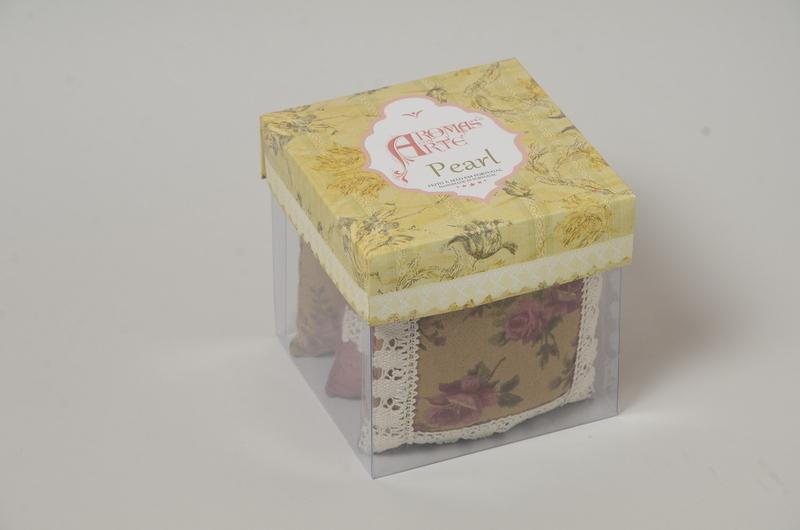 Caixa de três Almofadinhas Perfumadas Aroma Pearl