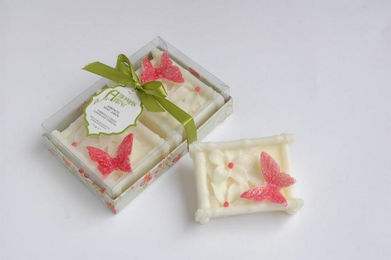 Caixa 2 ovais com rosas esculpidas branco