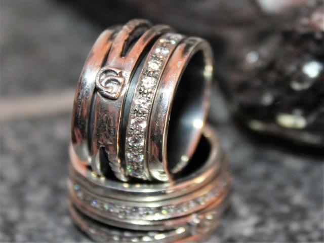 anel em prata 925 antistress com zircónias brancas, peso 13.2 gramas, medida 17