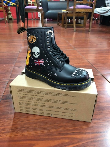 Dr.Martens, botas, core applique black smooth
