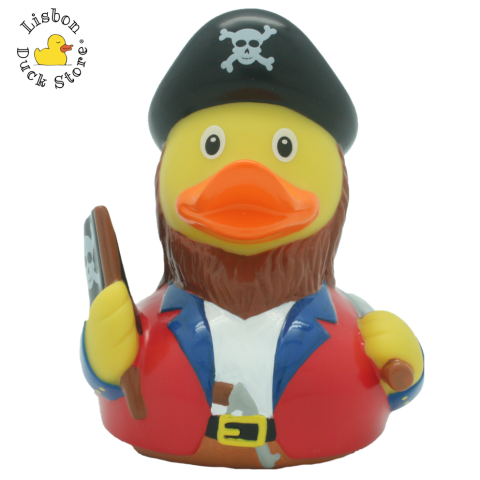 Pirate Duck with flag