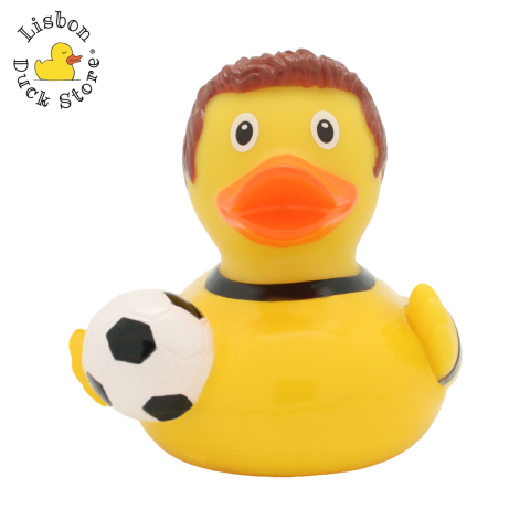 Football Player Duck, yellow